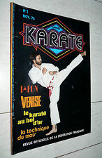 KARATE N°2 1976 PASCHY JAPON GRUSS  EQUIPE DE FRANCE BOL D'OR KUNG FU FFK