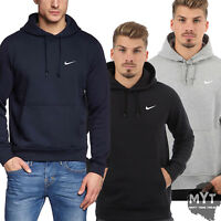Nike New Mens Hoodie Club Swoosh Pullover Jacket Styles Black Grey Navy