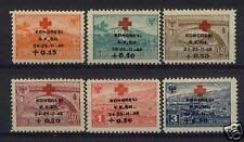 Albania 1946 SG#452-457 Red Cross Congress MNH Set