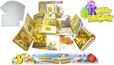 18x IMBOTTITO 3D MUSICALE COMPLEANNO CARDS (HAPPY BIRTHDAY nota all' interno & BUSTA)