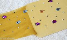 Tik Tok - Rhinestone Raindrop Tights - 19 Colours - One Size - UK Seller