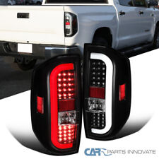 For 14-20 Toyota Tundra Black LED Sequential Signal Tail Lights Brake Lamps Pair