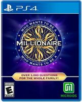 Who Wants to be a Millionaire for PlayStation 4 [New Video Game] PS 4
