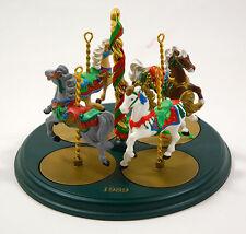 HALLMARK 1989 CHRISTMAS CAROUSEL HORSES & DISPLAY HOLLY GINGER SNOW STAR