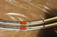 Mavic Argent 10 Tubular Rims 28H ( one pair ) 1984/85 mavic rim