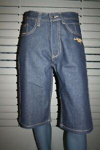 Makaveli By Tupac Jeans Shorts Dark Blue Rinse New