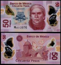Mexico 50 Pesos (2017), Serie AB, Sign.8:Carrillo-Rabiela, Polymer, UNC