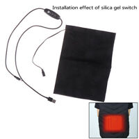 Portable USB Electric Heating Pad Vest Jacket Clothing Heated Pads Warmer Wa SP