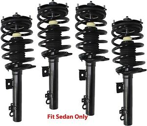 4 Complete Struts Full Set With Springs Fit Taurus Sable Sedan with Warranty