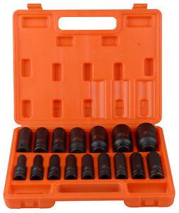 "16pc 1/2""Drive Impact Deep Socket Set Metric 10-32mm Nut H78 Car Garage Mechanic"
