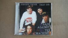 "RAGE AGAINST THE MACHINE ""JUSTIFY THOSE THAT DIE"" PRO SOURCED SILVER DISC CD NEW"