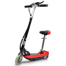 vidaXL Elektroroller Elektro Scooter Kinderroller mit Sitz 120 W klappbar Rot