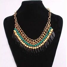 Fashion Jewelry Crystal Chunky Statement Bib Pendant Chain Choker Necklace Hot