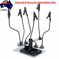 Airbrush & Spray Gun Part Holder Clip Stand Hold Model Hobby Auto Paint   D N