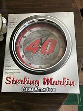 "Sterling Marlin NASCAR 12"" Plasma Motion Clock, New In Box"