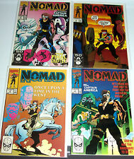 NOMAD #1-4 (VF/NM) Full Set! 1990 CAPTAIN AMERICA! 1st Series! LQQK!