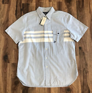 NEW Ralph Lauren Classic Fit Mens Blue Button Down Shirt Sz L