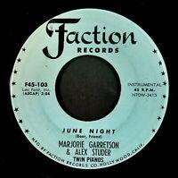 MARJORIE GARRETSON & ALEX STUDER blue (and broken) / June night US VINYL FACTION