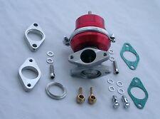 Burstflow Wastegate extern 35 mm einstellbar universal passend für AUDI BMW rot