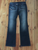 DIESEL LADIES DARK BLUE DENIM BOOTCUT LEG JEANS W28 L34