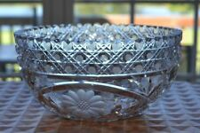Vintage Crystal Bowl - Stunning! - 8 inches - Centerpiece - Floral Design