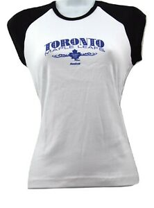 Toronto Maple Leafs Reebok NHL Hockey Dazzled Women's Short Sleeve T-Shirt M-XXL