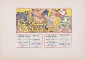 Mignon - Kermesse de Bruxelles original litho1896 Les Affiches Etrangeres