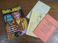 MODES & TRAVAUX + PATRONS POUPEES + ROBES BRODERIE No 1030 (1986) Patterns Dolls
