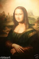 "High Quality Oil Painting on Stretched Canvas 24x36"" - Mona Lisa"