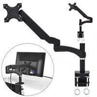 Single Arm TV LCD Monitor Desk Mount Stand Bracket Swivel Gas Spring up to 27""
