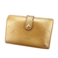 Louis Vuitton Wallet Purse Monogram mat Beige Woman Authentic Used A1125