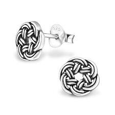 925 Sterling Silver Celtic Knot Stud Earrings (Design 3)