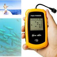 Fish Finder 100M Depth Transducer LCD Alarm Sonar Sensor Portable Fishfinder