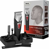 Wahl Afro T-Pro Men's Hair Trimmer Clipper Kit T-Blade Cordless Rechargeable UK
