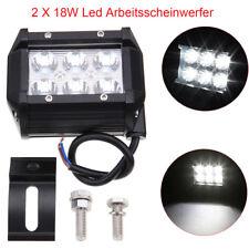 2x18W LED IP67 Arbeitsscheinwerfer Offroad Scheinwerfer Flutlicht DC 10V~60V