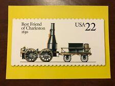USA 1830 Best Friend of Charleston Train Railroad on USPS Postcard 31/12/1999