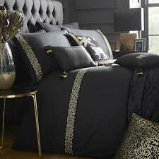 Black Duvet Covers Gold Embroidered Laurence Llewellyn-Bowen Luxury Bedding Sets