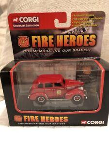Corgi Fire Heroes CS90013 Chevrolet Sedan Car Chief Memphis F.D. 1/64 2001 chevy