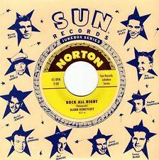 GLENN HONEYCUTT / JIMMY WAGES Rock All Night 7 NEW Sun Elvis presley johnny cash