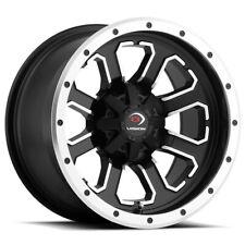 "4-Vision 548 Commander Atv/Utv 12x7 4x136 Black/Machined Wheels Rims 12"" Inch(Fits: More than one vehicle)"
