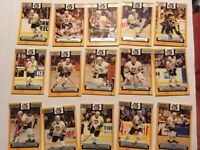 RARE - 1992 FOODLAND PITTSBURGH PENGUINS HOCKEY STANLEY CUP TEAM SET - 15 CARDS