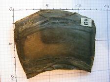 Original Büffelhorn dunkel, marmoriert, ideal als Griffschalen, 11x8x0,7 Nr. B4