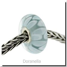 Authentic Trollbeads Glass 61407 Light Blue Shadow :1 RETIRED