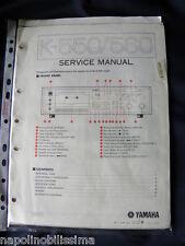 Yamaha K-550/560 Factory Original Service Manual New