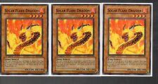 Yugioh Cards - Playset of 3x - Solar Flare Dragon SD3-EN008 1st Edition