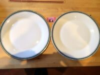 "Set Of Two Royal Doulton ~ Canterbury ~ Large Dinner Plates 10.5"" Diameter"