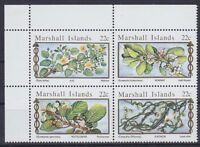 Marshall Inseln Mi Nr. 67 - 70 ** 4er Block, Blumen, postfrisch MNH
