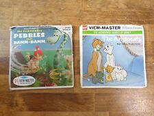 Viewmaster PEBBLES & BAM-BAM / THE ARISTOCATS Reel Sets and Booklets Vintage