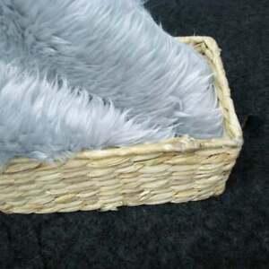 SilverShag Faux Fur Photo Prop Newborn Nest Photography Blanket FREE SHIPPING!!!