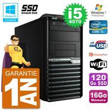 PC Acer Veriton M4630G MT i5-4570 RAM 16Go SSD 120Go Graveur DVD Wifi W7